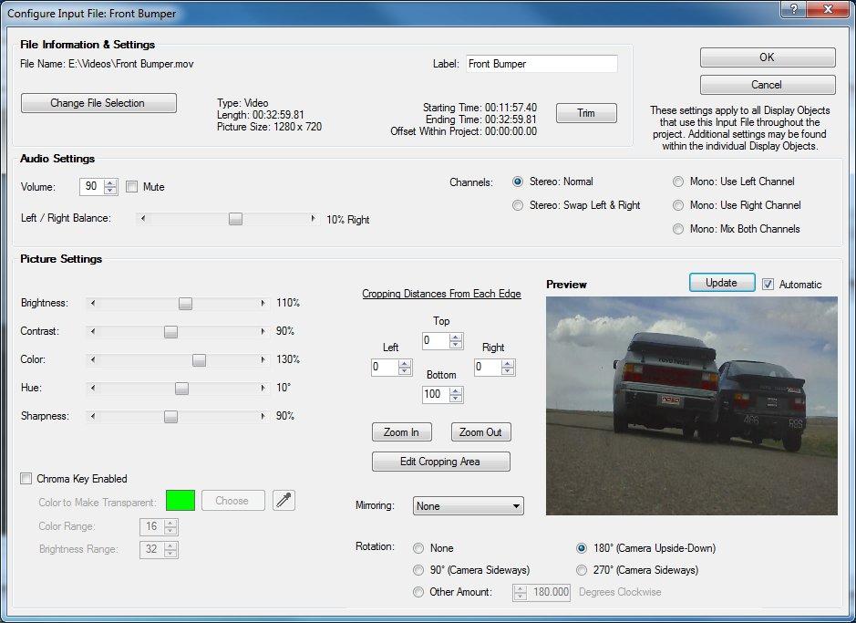 RaceRender 3 - Documentation - Input File Configuration